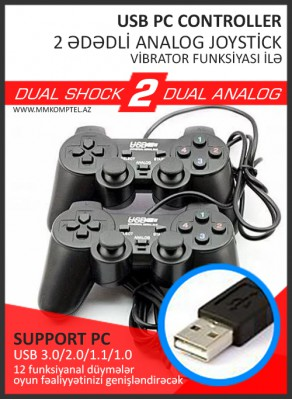 PC Analog Joystick 2 ədədli