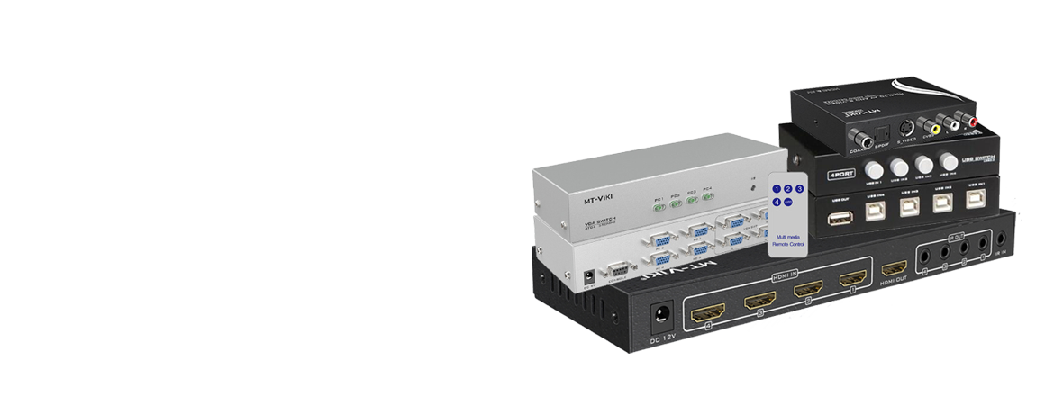 AV, KVM, VGA,<br>